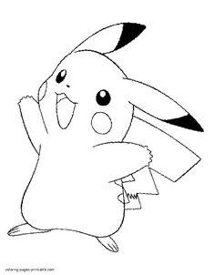 pokemon coloring pages pikachu cute color pages pinterest