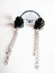 Innertube Rose Chain Earrings