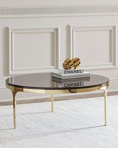 Shop Frida Coffee Table from Interlude Home at Horchow, where you'll find new lower shipping on hundreds of home furnishings and gifts. Home Coffee Tables, Brass Coffee Table, Decorating Coffee Tables, Table Furniture, Furniture Design, Marble End Tables, Center Table, My New Room, Home Furnishings