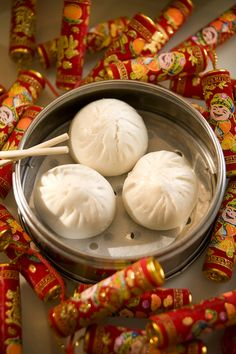 Char siu baau - filled with BBQ pork bun of Cantonese origin these are DELICIOUS!! Dim Sum are usually only served during the lunch hours