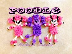 Rainbow Loom Poodles (Dog) Tutorial - How To loom with loom bands Adorable!