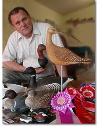 Ed Frank and his decoys.