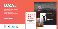 LUXA - Responsive Email Template + Online Editor • Download theme ➝…