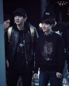 Chanyeol <3 D.O <3 - 141028 Incheon Airport, departing for Mexico