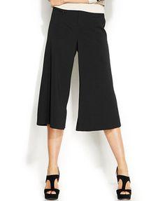 INC International Concepts Petite Side-Slit Gaucho Pants