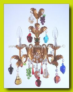 Image detail for -Murano glass fruits chandeliers, all hand made