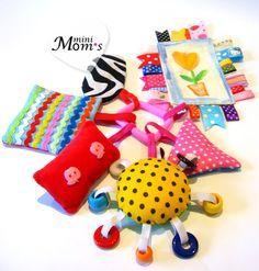 """Развивающие игрушки ручной работы. Ярмарка Мастеров - ручная работа Развивающий набор """"Первые игрушки"""" 2m+. Handmade. Sewing Toys, Baby Sewing, Sewing Crafts, Sewing Projects, Fabric Toys, Fabric Crafts, Baby Toys, Kids Toys, Stuffed Toys Patterns"""