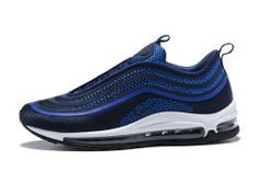 3cad9f4e6a058 Men s Nike Air Max 97 Ultra 17 Midnight Navy White Cool Grey Boys Running  Shoes Grey
