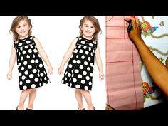 Introdução à costura: Aprenda a traçar molde de vestido infantil [ aula 3] - YouTube Cute Baby Dresses, Girls Dresses, Dresses For Work, Sewing Baby Clothes, Baby Sewing, Toddler Fashion, Girl Fashion, Vestidos Chiffon, Kids Frocks