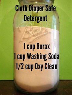 Cloth diaper detergent