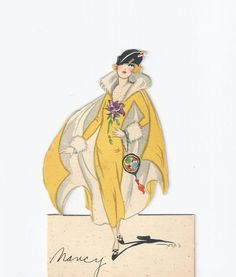This picture of a flapper was a place card for my Mom at some occassion.
