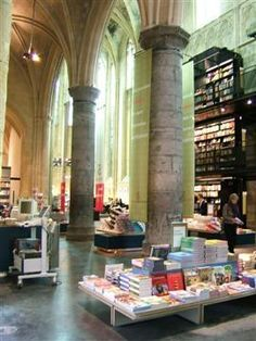 Converted Church  into  Bookstore