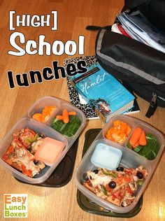 """Lunches packed in @easylunchboxes for my 2 hungry teenagers. CLICK for lots more ideas for """"big kids""""."""