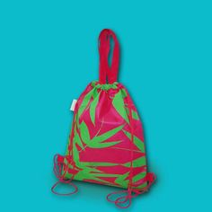 Backpack style Eco bag made from nonwoven material; shows bamboo leaves on pink background. Designed by Robert Montelibano for Gifthaven. Check www.gifthaven.com.ph Bamboo Leaves, Go Green, Gift Bags, Bag Making, Drawstring Backpack, Fashion Backpack, Ph, Boxes, Backpacks