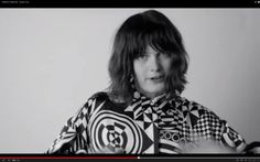 he minute-long video shows the first black and white images of the collection, while the models discuss their music preferences, including dubstep, Alice Cooper, Francoise Hardy, and Nirvana.