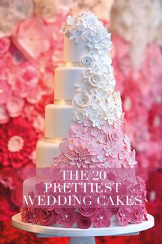 Check out these 20 prettiest wedding cakes we found for you!