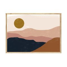 NAVY DESERT PRINT – Papier HQ Large Prints, Framed Prints, Matte Black, Earthy, Deserts, Black And White, Navy, Cards, Painting