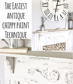 The Easiest Antique Chippy Paint Technique