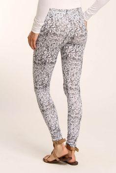 bloom. Love patterned pants!
