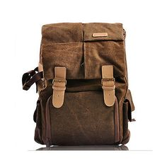 #Waterproof canvas camera backpack #rucksack bag for #canon 550d 600d 650d d760,  View more on the LINK: http://www.zeppy.io/product/gb/2/271940224253/