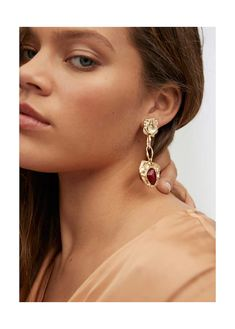 Beaded pendant earrings - Plus sizes Pendant Earrings, Pearl Earrings, Drop Earrings, Violeta By Mango, Jewelry Box, Jewellery, Plus Size, Manga, Metal