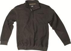 [img-8993-left-thickbox_default] Sweat allsize Gamme Greyes Casual composé de 100% Coton  Finition bord côtes zip sur col Haut col Camionneur Poche poitrine avec bande de tissu brillant.