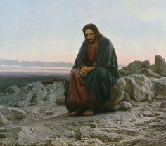 Christ in the Desert by Ivan Nikolaevich Kramskoy
