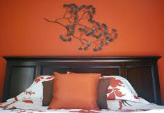 Image result for white orange bedroom