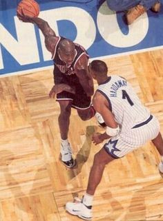 Michael Jordan and Anfernee Hardaway