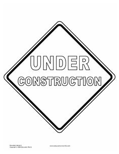 printable construction coloring pages coloring home - Tools Coloring Pages Screwdriver