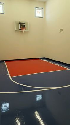 Sport court flooring similar OUTER: STANDARD BLUE INNER: BRIGHT RED LINES: WHITE BASE: BLACK ~painted option