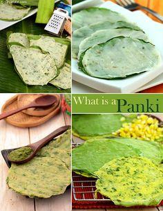 Pankis a Gujarati delicacy Gujarati Cuisine, Gujarati Recipes, Indian Food Recipes, Vegetarian Recipes, Gujarati Food, Jain Recipes, Indian Breakfast, Breakfast Items, Breakfast Recipes