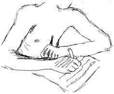 Escribiendo.  Bolígrafo.  Amparo Ramis