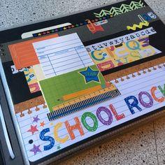 School Scrapbook Layouts, Scrapbook Layout Sketches, Kids Scrapbook, Scrapbook Paper Crafts, Scrapbooking Layouts, Scrapbook Pages, School Memories, School Days, Graduation Scrapbook
