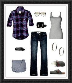 Great plaid makes this outfit fun...with different shoes.