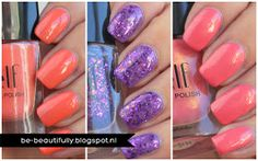 #1579 Coral Dream, #25130 Gina Girl & #1509 Coral http://www.eyeslipsface.nl/product-beauty/nagellak