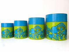 Vintage kitchen tin canister set by Stratfieldworkshop on Etsy