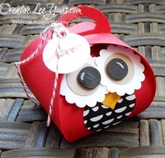 handmade curvy keepsake love owl by wendy lee, #creativeleeyours, Stampin' Up! ... super cute ... could be done in many colors ...