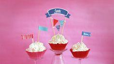 Kakkukoristeet | kakku | koriste | lasten | syntymäpäivä | juhlat | askartelu | paperi | tulostettava | kuppikakku | muffinssi | DIY ideas | kid crafts | cupcake | topper | free | printable | Pikku Kakkonen