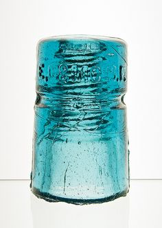 CD 123, E. C. & M. CO. {'H' mold}, Aurora Blue by monon738, via Flickr Antique Bottles, Bottles And Jars, Antique Glass, Electric Insulators, Glass Insulators, Canning Jars, Mason Jars, Lightning Rod, Weather Vanes