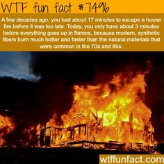 3 minutes, House fires - WTF FUN FACTS
