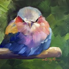 What is Your Painting Style? How do you find your own painting style? What is your painting style? Bird Painting Acrylic, Love Birds Painting, Acrylic Painting Inspiration, Watercolor Bird, Acrylic Canvas, Simple Acrylic Paintings, Colorful Paintings, Art Painting Flowers, Flowers To Paint