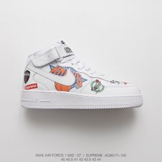 buy popular 75a96 80ce3 Fsr Nike Air Force Supreme Nba Af1 Limited Edition Black And White Sneakers
