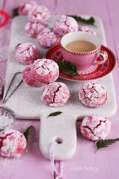 Cookies de frambuesa y chocolate blanco - Raspberry & White Chocolate Crinkle Cookies