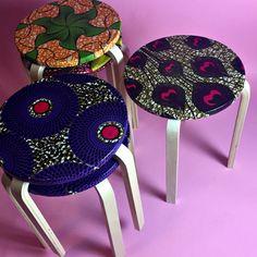 lollipop stool african prints interior design