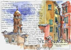 Vernazza,-Italy-(Cinque-Terre) - travel sketchbook by Brenda Swenson