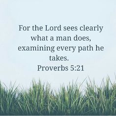 God sees everything we do!