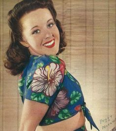 """Peggy Moran, Earl Moran's daughter and the chick that the 1940's tune, """"Peggy, The Pin-Up Girl"""" was named after"""