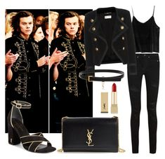 """""""Saint Laurent total look"""" by maryanacoolstyles ❤ liked on Polyvore featuring Yves Saint Laurent"""