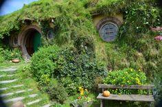 Bilbo Baggins' house, Hobbiton, Matamata, New Zealand